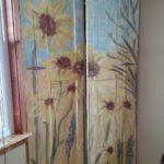 sunflower garden cabinet