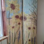 sunflower garden cabinet